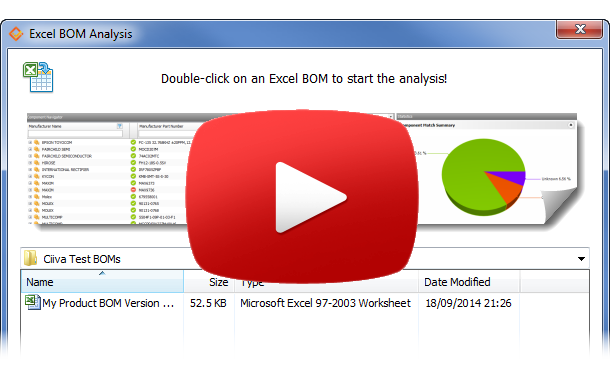 Excel BOM Analysis Video